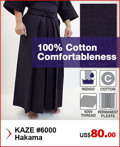 KAZE #6000 Kendo / Iaido Hakama