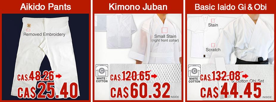 Aikido Pants/Kimono Juban/Basic Iaido Gi&Obi